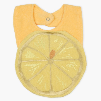 Juniors Embroidered Bib with Snap Button Closure