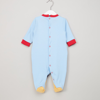 Mickey Mouse Embroidered Long Sleeves Sleepsuit
