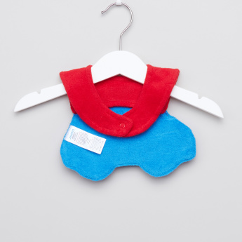 Juniors Embroidered Car Shaped Bib with Snap Closure