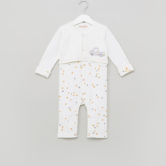 Juniors Printed Mock Jacket Sleepsuit