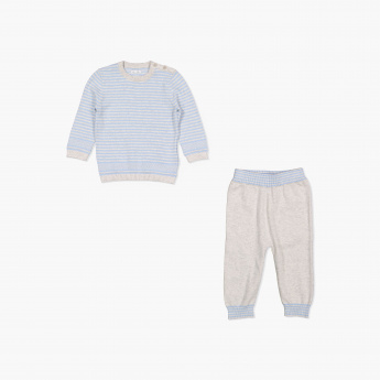 Giggles Striped Pyjama Set
