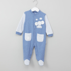 Juniors Elephant Patch Detail Closed Feet Sleepsuit