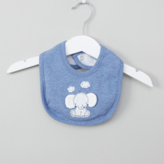 Juniors Applique Detail Bib with Snap Button Closure