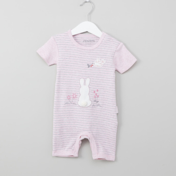 Juniors Birdy Embroidered Romper