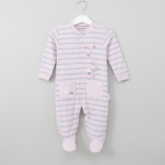 Juniors Birdy Embroidered Closed Feet Sleepsuit