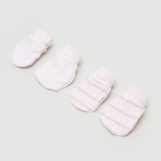 Juniors Dream Girl Striped 2-Piece Mitten Set